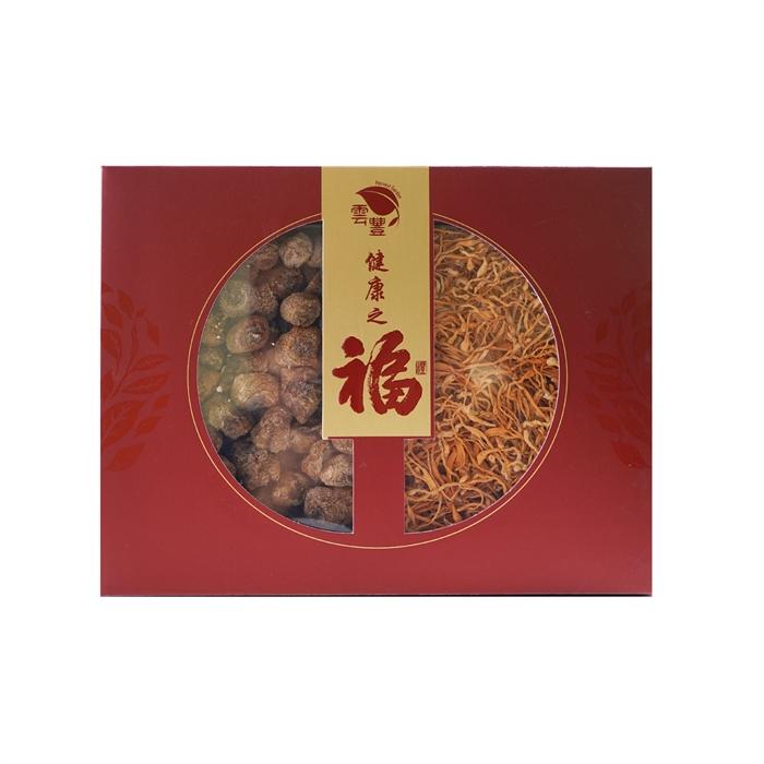 健康是褔特級姬松茸蟲草花禮盒250G (特級姬松茸150g+ 蟲草花100g)
