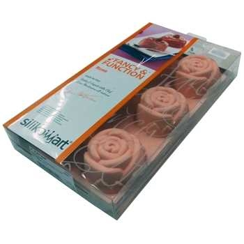 Silikomart Rose Silicone Moulds (6 cups)