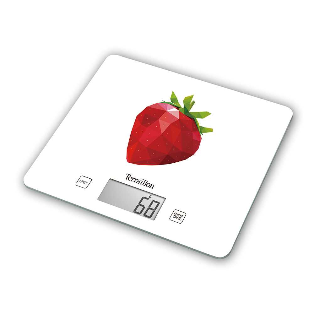 Terraillon Electronic Kitchen Scale (Strawberry)