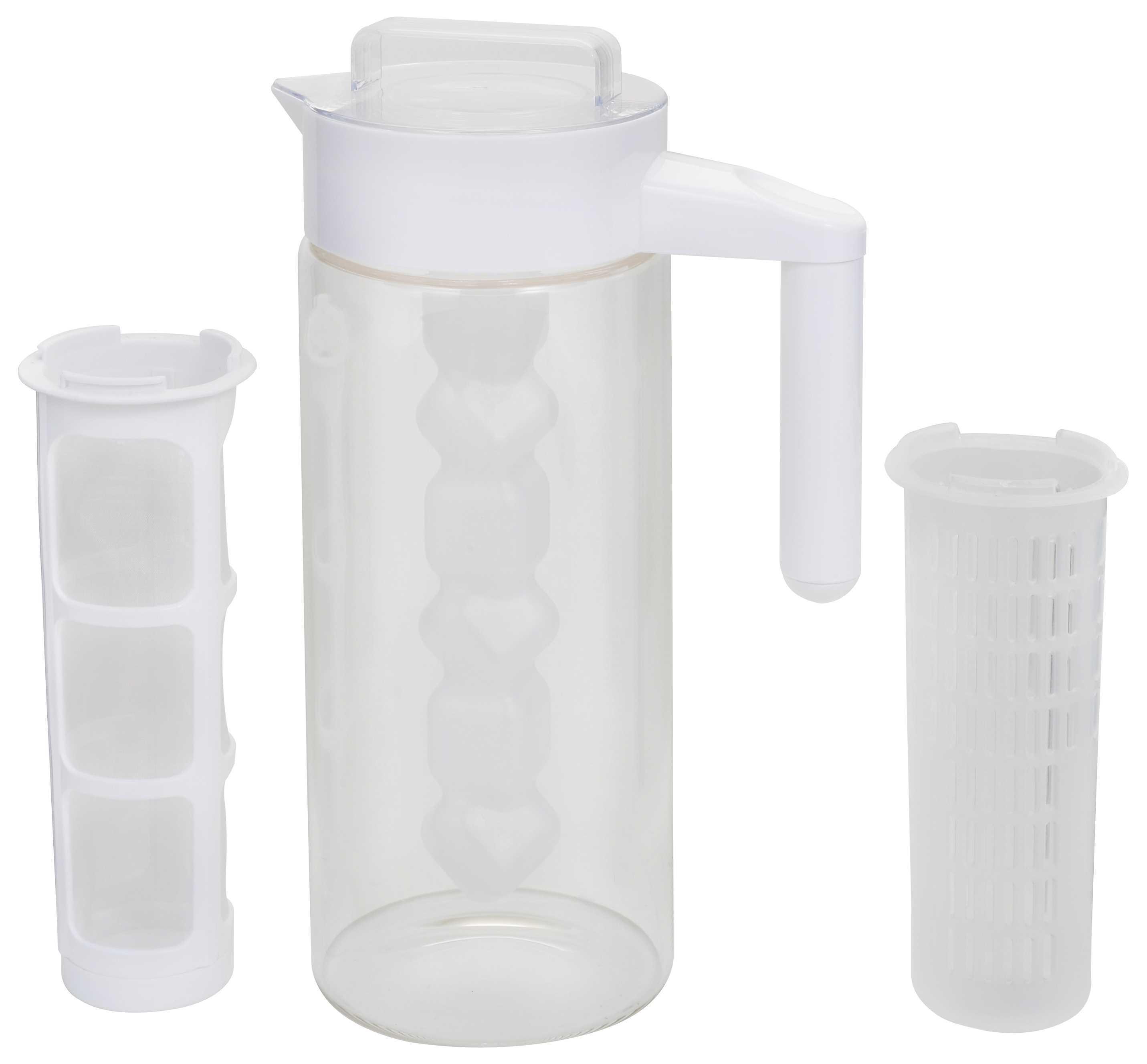 多用途耐熱玻璃冷水瓶1.3公升(白色)