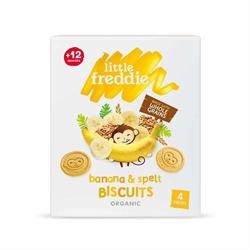 Little Freddie 有機香蕉斯卑爾脫小麥餅乾(4x20g)(3件)