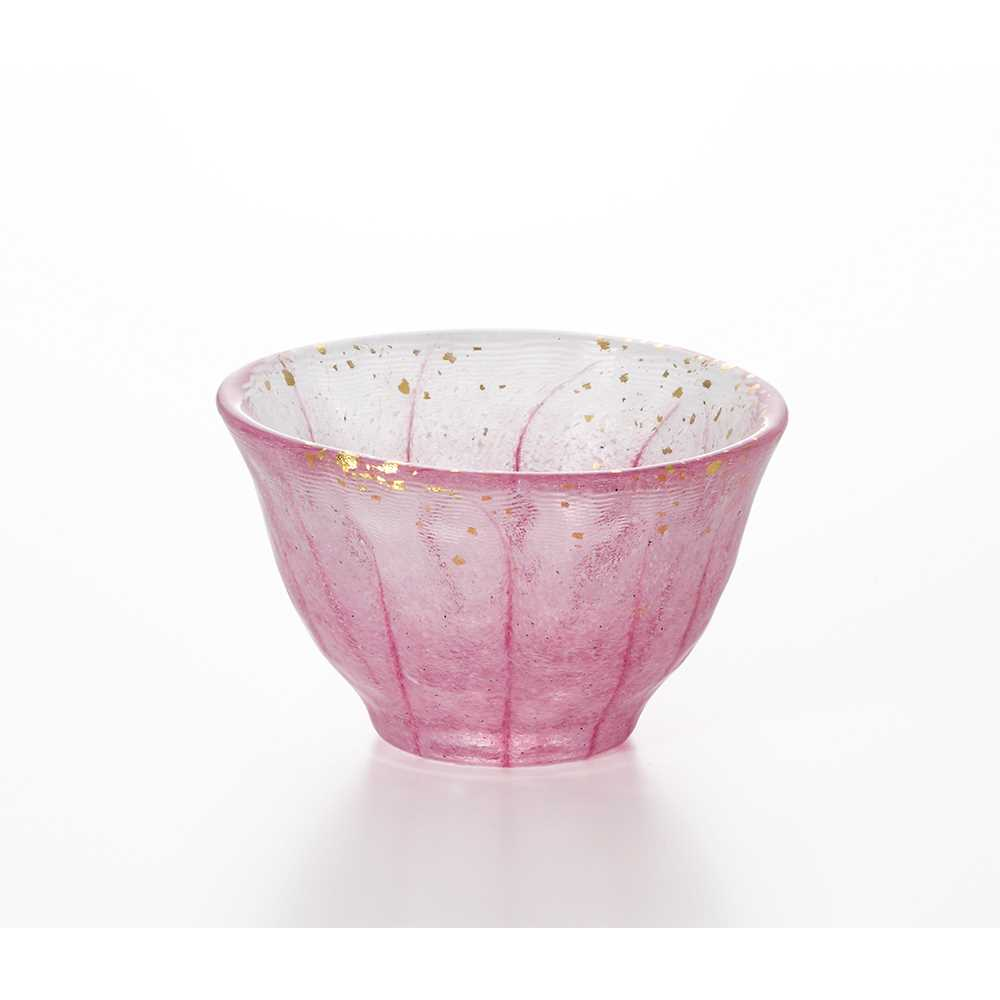 日本製造Aderia拼花清酒杯70ml(粉色)
