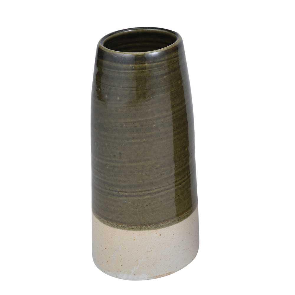 日本製造常滑燒陶器花瓶18cm