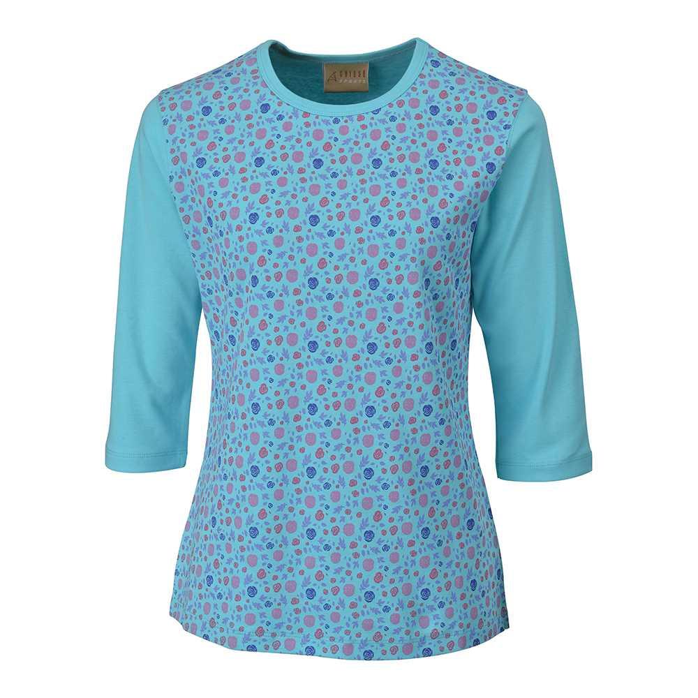 Chissa Sports Ladies Cotton T-shirt CS-422 (Aqua)