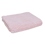 单人纤维波浪纹毛毯CF124 150x200cm(桃色)