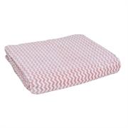 Polyster Blanket Wave Pattern Single Size CF124 150x200cm(Peach)