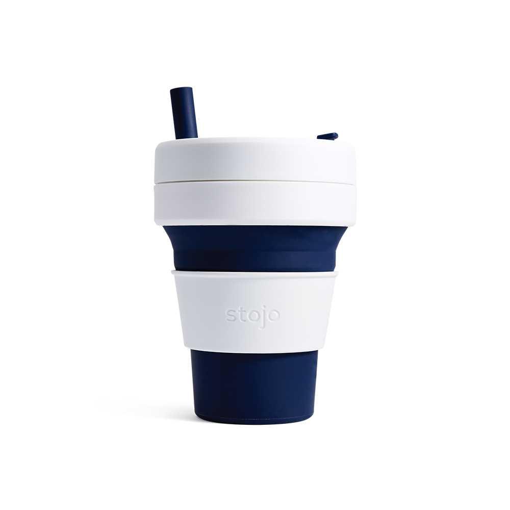 Stojo摺疊隨行杯470毫升(深藍色)S2-IND