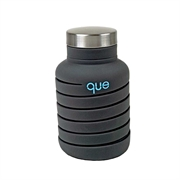 Que Collap Bottle 600ml (Charcoal) QBL102