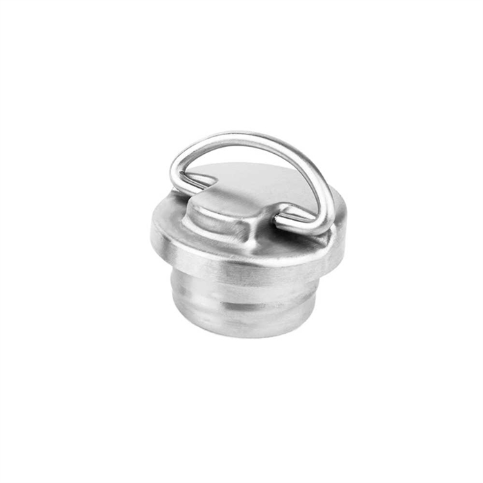 Que Bottle S.Steel Cap w/loop QBSSC102