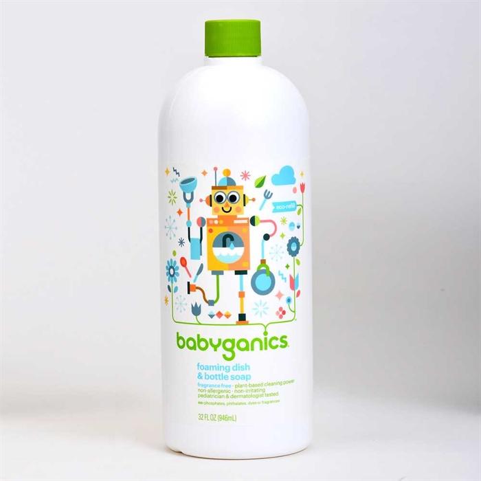 Babyganics Foaming Dish & Bottle Soap Refills 946ml