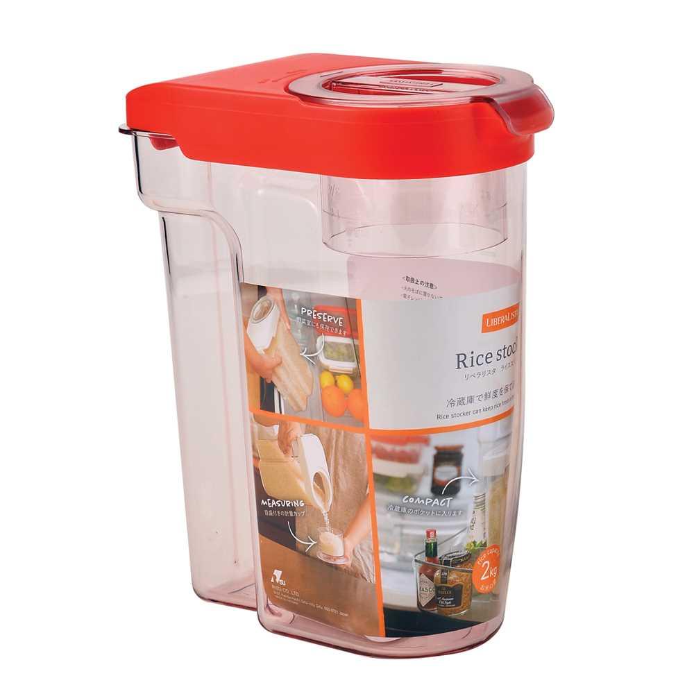 Risu 2公斤米箱-红