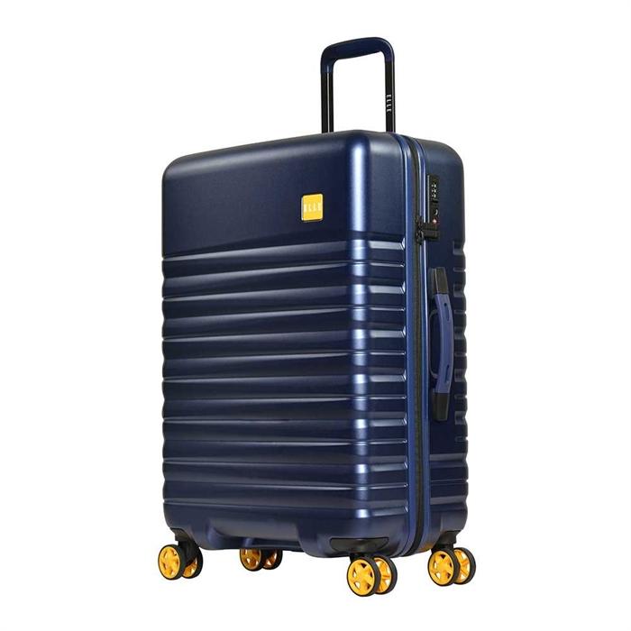 "Elle PC Zipper Hard Luggage 24""-Blue"