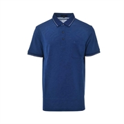 Montagut Silk Wool Polo Shirt TSS1111551-Blue