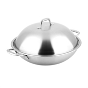 Carl Schmidt Sohn 36cm Non-Stick Chinese Wok with stainless Steel Lid With Gift