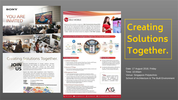 【Creating Solutions Together | Sony's Singapore showcase】