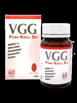 VGG - VGG KRILL OIL 60 Softegl - (非魚油) (含蝦青素 DHA EPA Omega-3 磷脂和膽鹼 Omega-3) (No fish oil)