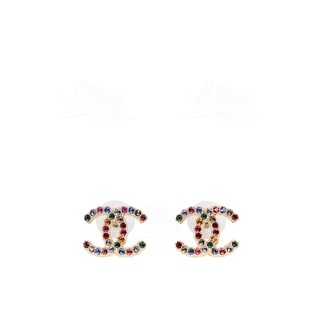 Chanel 金色彩虹耳環