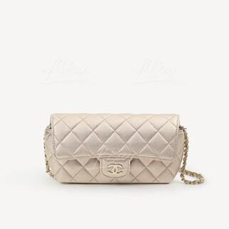 Chanel 經典款鏈條眼鏡盒 (香檳金)