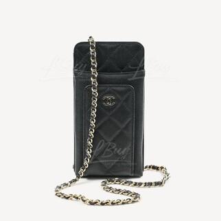 Chanel Phone Bag 手機袋 金色CC Logo