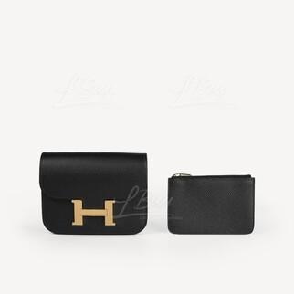 Hermes Constance Slim Wallet 黑金