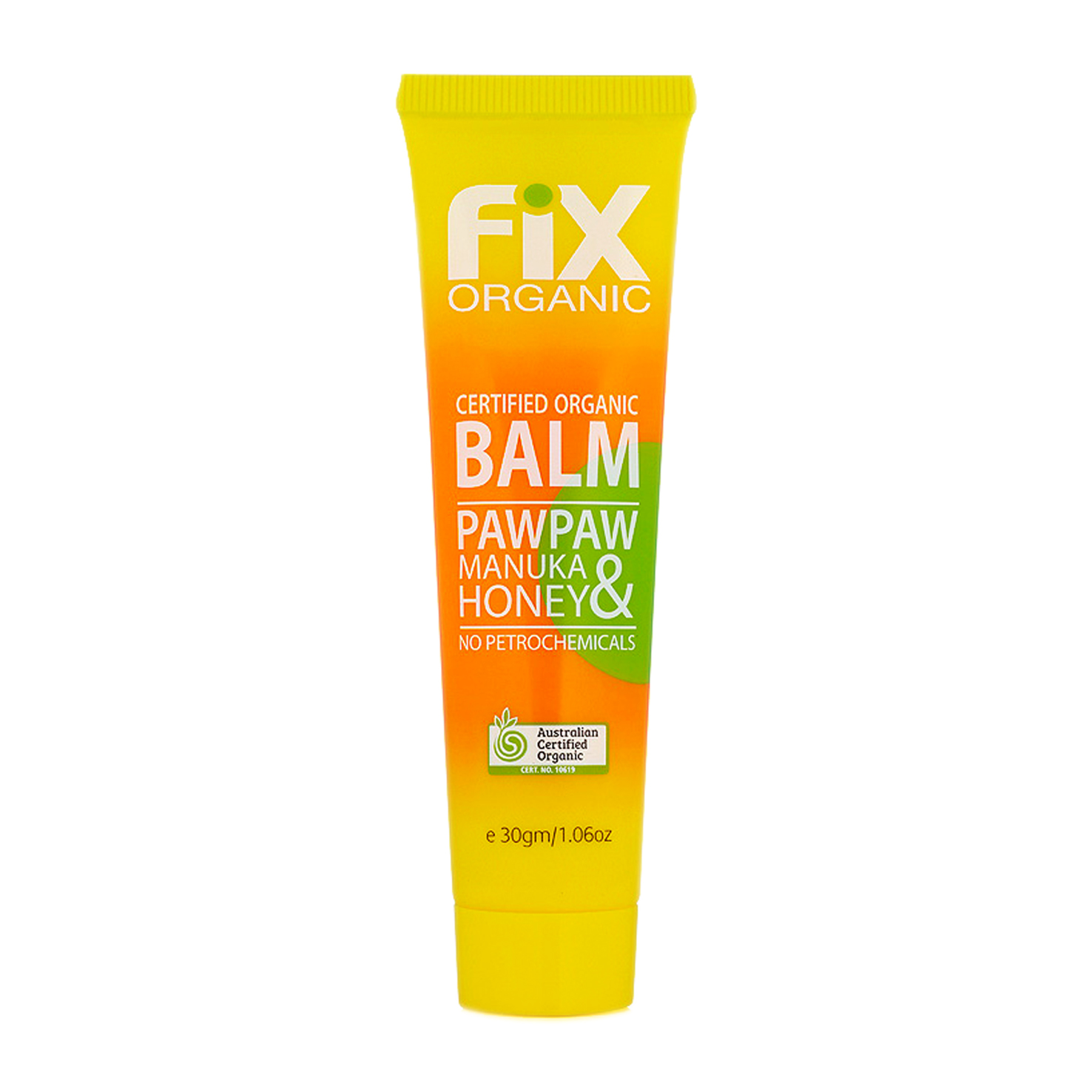Fix Organic Certified Organic Paw Paw & Manuka Honey Balm 30g