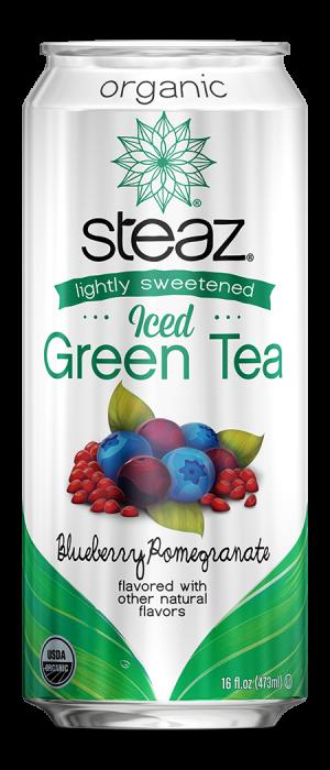 Steaz Organic Lighty Sweetened Iced Green Tea (Blueberry Pomegranate)