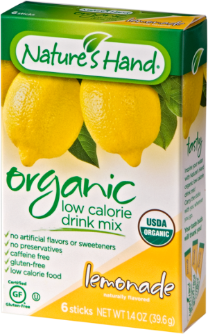Nature's Hand Organic Drink Mix - Lemonade (6 Sticks)