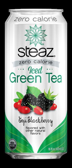 Steaz Zero Calorie Iced Green Tea (Goji Blackberry)