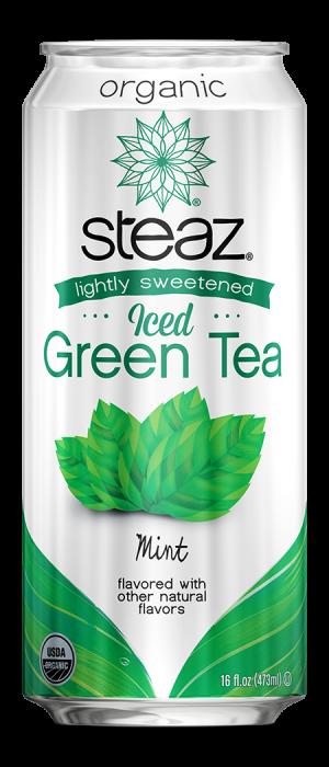 Steaz Organic Lighty Sweetened Iced Green Tea (Mint)