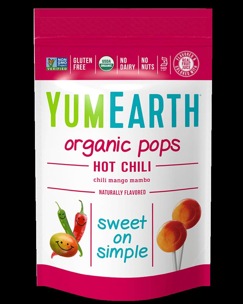 YumEarth Organic Hot Chili Mango Lollipops