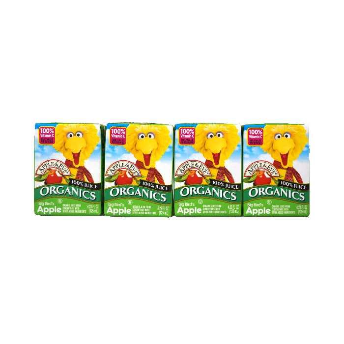 Apple & Eve Organic Big Bird's Apple Juice (4x125mL)