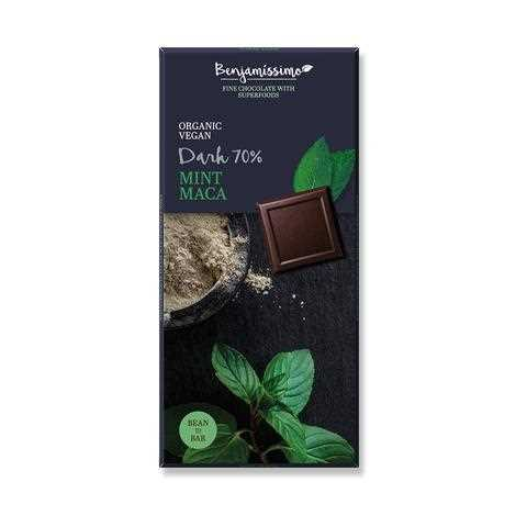 Benjamissimo Organic Vegan 70% Dark Chocolate(Mint & Maca)