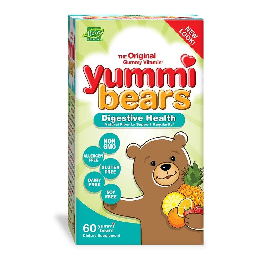 Hero Nutritionals Yummi Bears Fiber Digestive Health Supplement for Kids