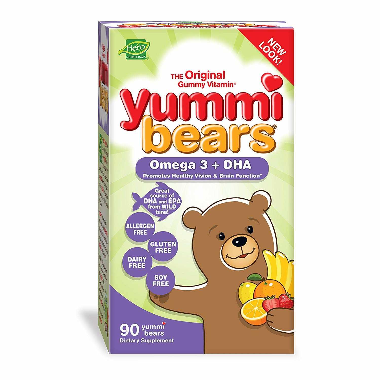 Hero Nutritionals Yummi Bears Omega 3 + DHA for Kids