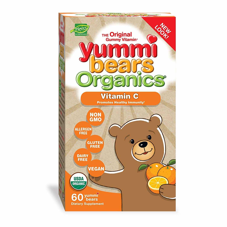 Hero Yummi Bears Org. Vitamin C 60ct