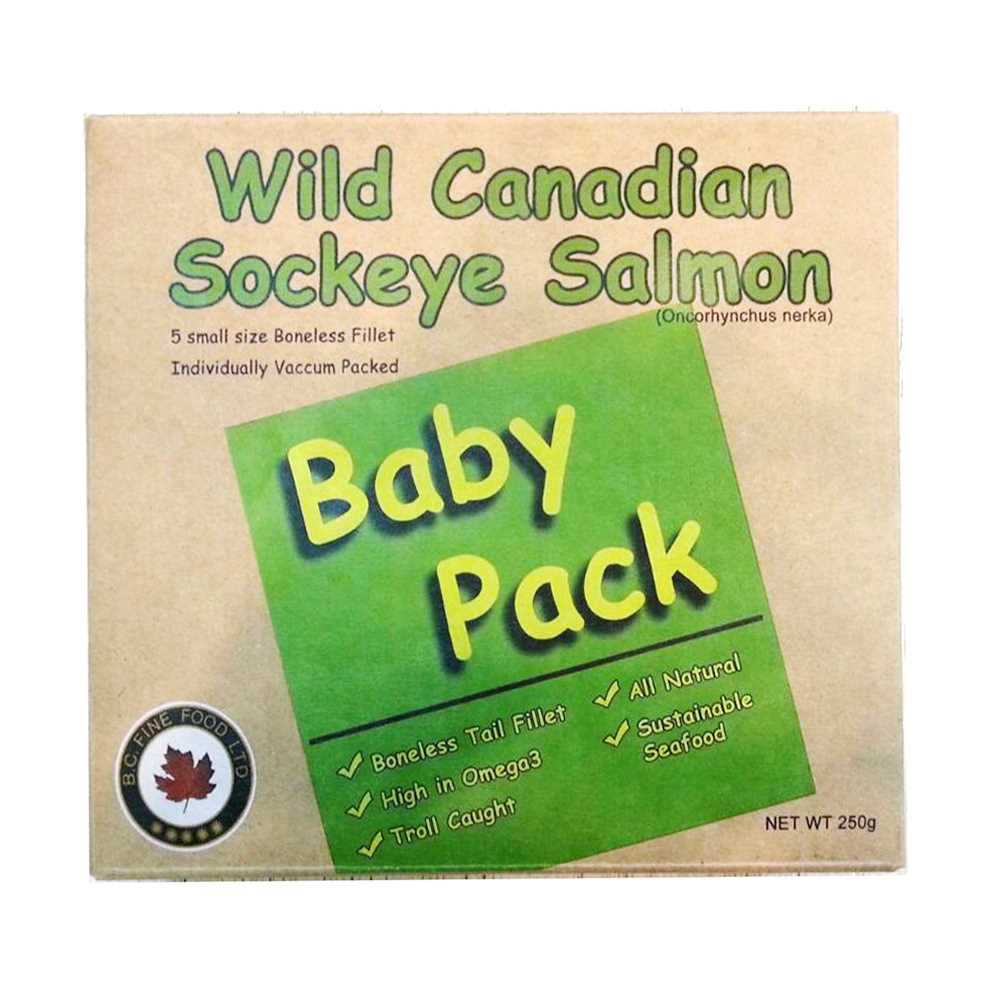 Wild Canadian Sockeye Baby Pack [Frozen freight collect (about $150)/Frozen shipping fee of less than $500 will be paid at first $80, and the difference will be paid after the goods arrive]