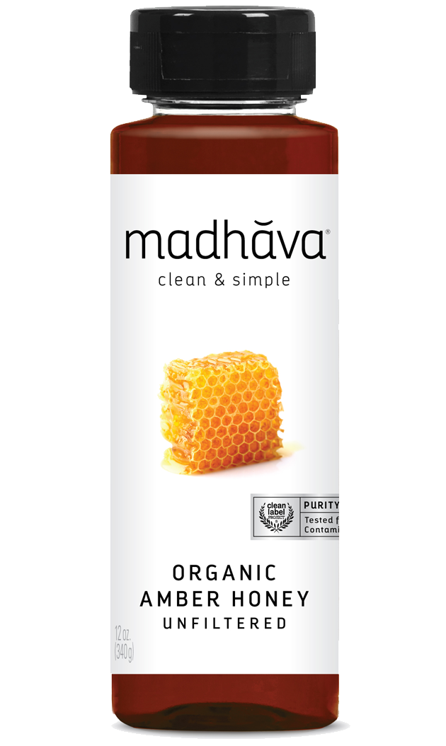Madhava Organic Amber Honey (unfiltered) 12oz