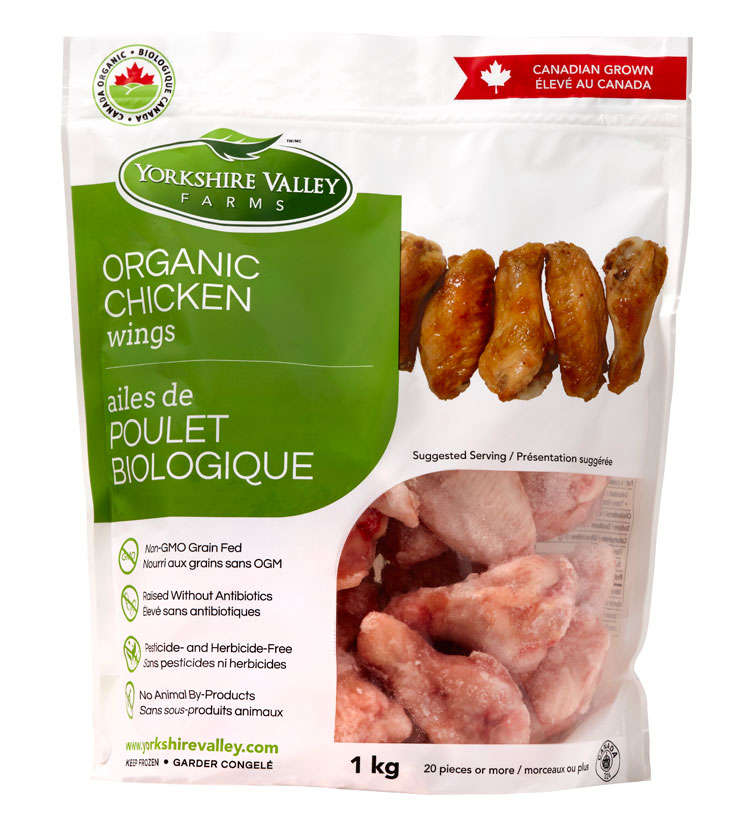 Yorkshire Valley Farms Organic Chicken Wings 1kg  [Frozen freight collect (about $150)/Frozen shipping fee of less than $500 will be paid at first $80, and the difference will be paid after the goods