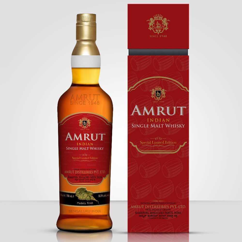 Amrut Madeira Finish Limited Edition Single Malt Indian Whisky (700ml)