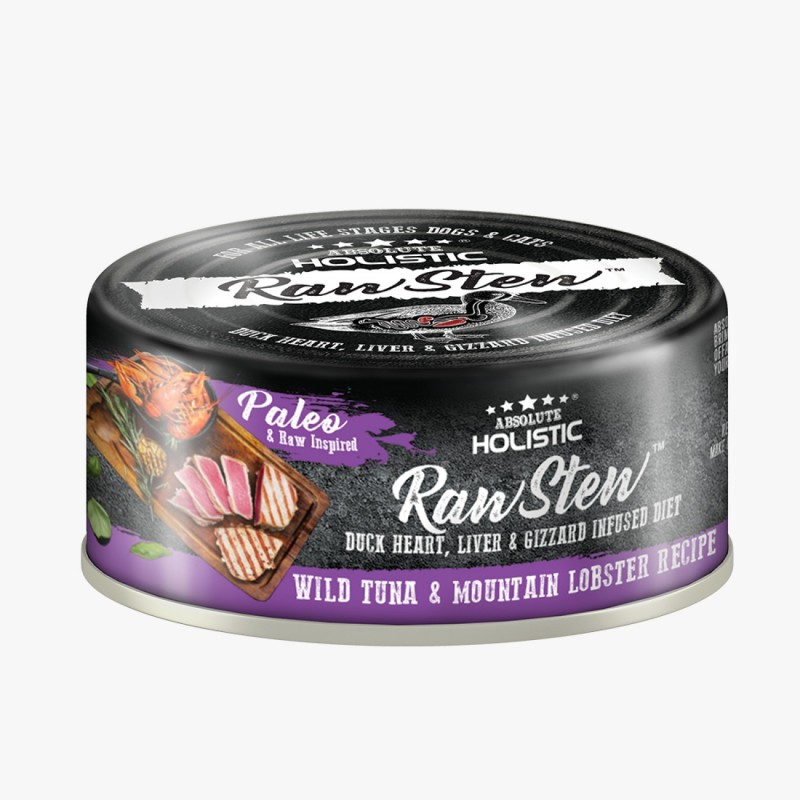 Absolute Holistic-Raw Stew貓狗主食罐 鴨+野生白肉金槍魚+龍蝦 80g