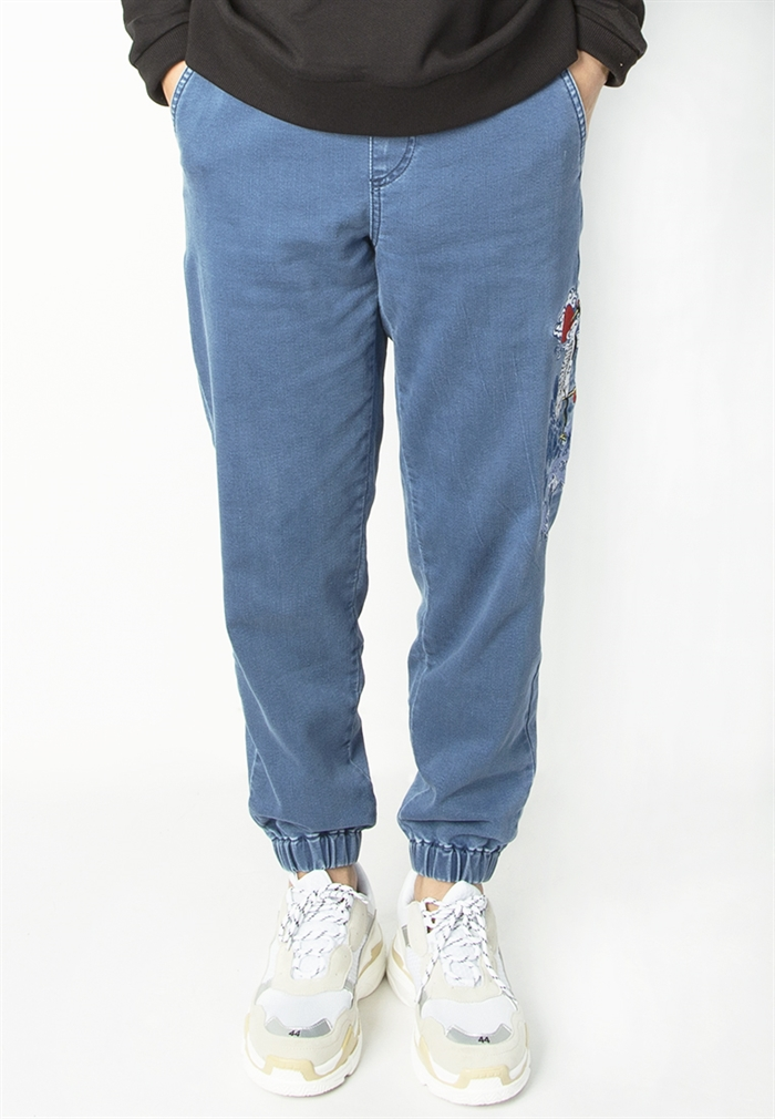 BSX  Embroidered Denim Jogger(10411016462)